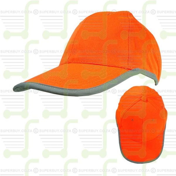 Hi Visibility Reflective Binding Safety Baseball Peak Cap Orange v2