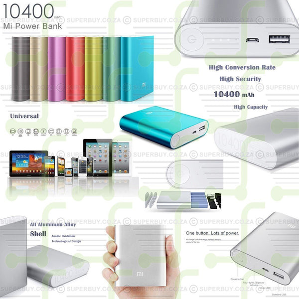 Mobile Power Bank 10400mAh External Battery Portable USB Charger Pack