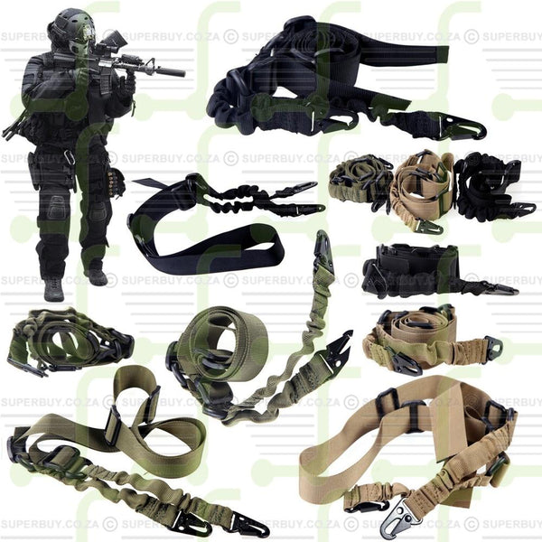 Tactical Elastic Bungee v1 Two-Point Rifle Sling Gun Support