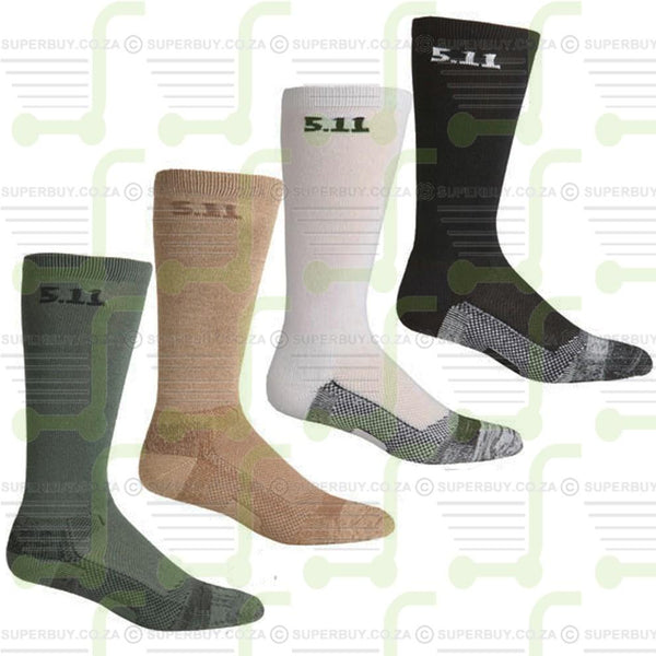 5.11 Level 1 Crew 6 Inch Tactical Socks Black