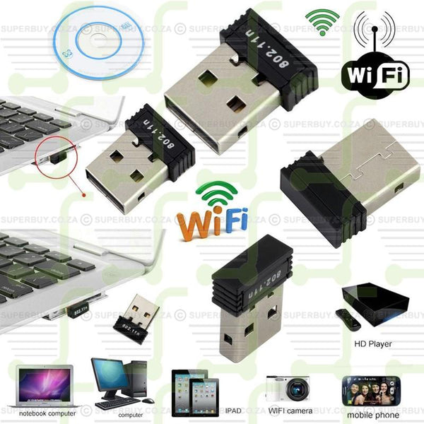 Wireless WiFi Dongle USB 2.0 150Mbps 802.11N