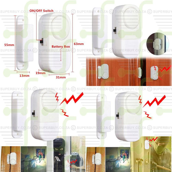 Camping Sleeping Alarm Super Sonic Door Window Entry Breach Sensor Security Alarm Device Single