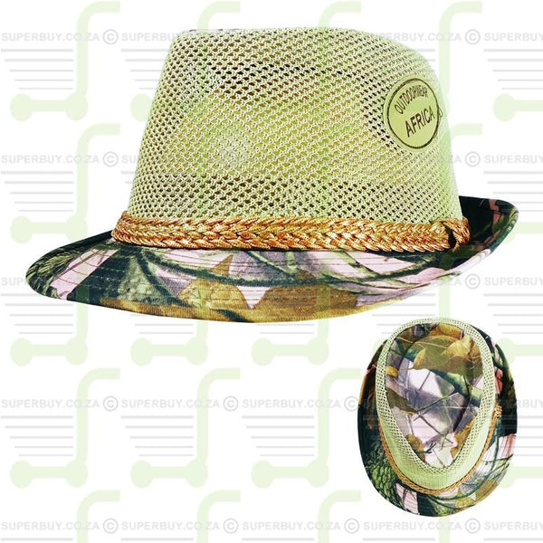 Pink Real Treee Camo Fedora Hat