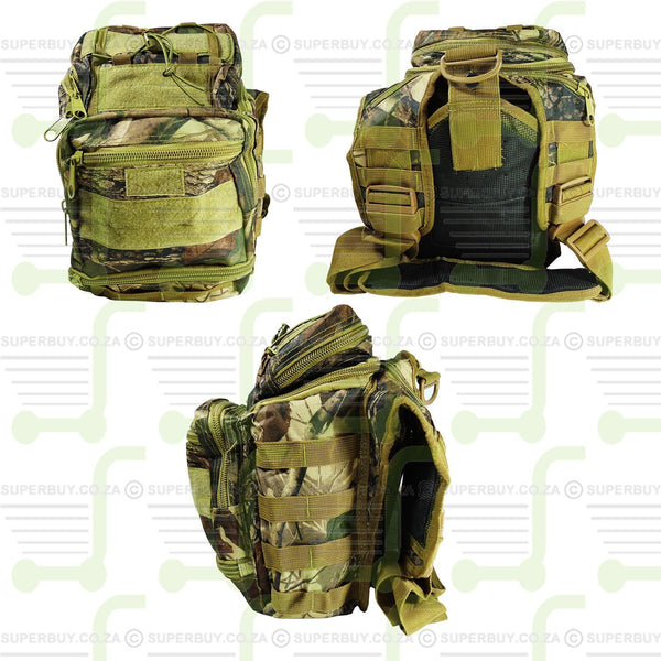 Tactical Camo Utility Gear Shoulder Sling Backpack Bag Camo