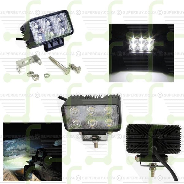 Spot Beam LED Work Light Bar Offroad Driving Lamp For Car ATV 4WD 12V/24 with 6 LED Lights 18W
