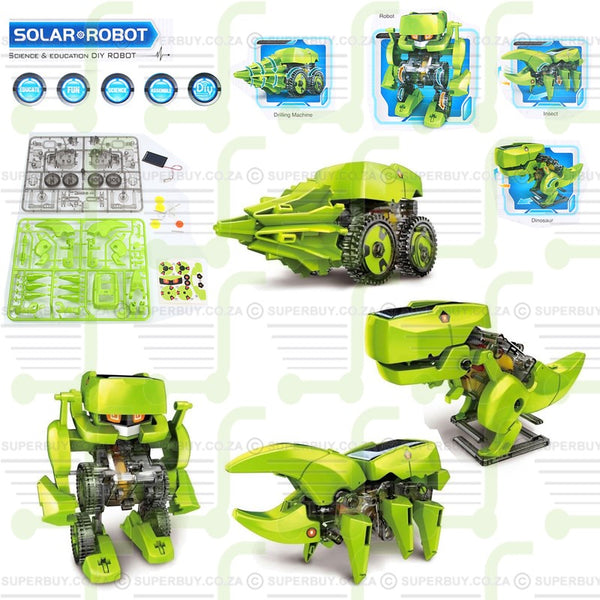 DIY Solar Robot Toy Assembly Kit 4 in 1