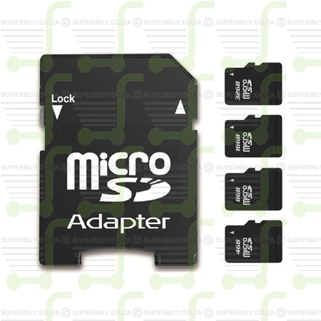 Mini Micro SD Memory Card and Adapter 16GB