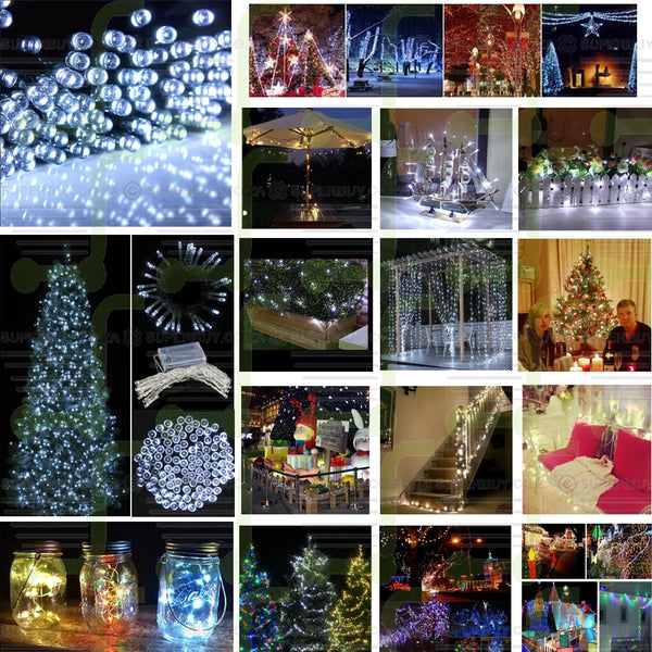 Cool White Battery Operated LED String Fairy Lights for Christmas, Weddings and More (5 Meter)
