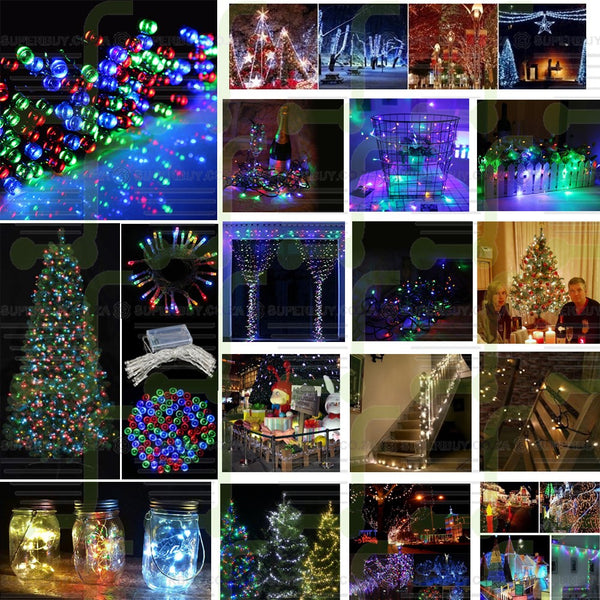 Multi Color Battery Operated LED String Fairy Lights for Christmas, Weddings and More (10 Meter)