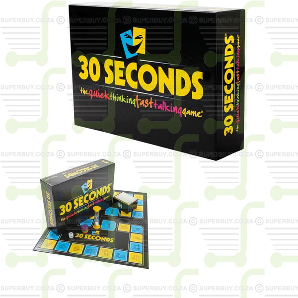 30 Seconds Board Game The Quick Thinking Fast Talking Game
