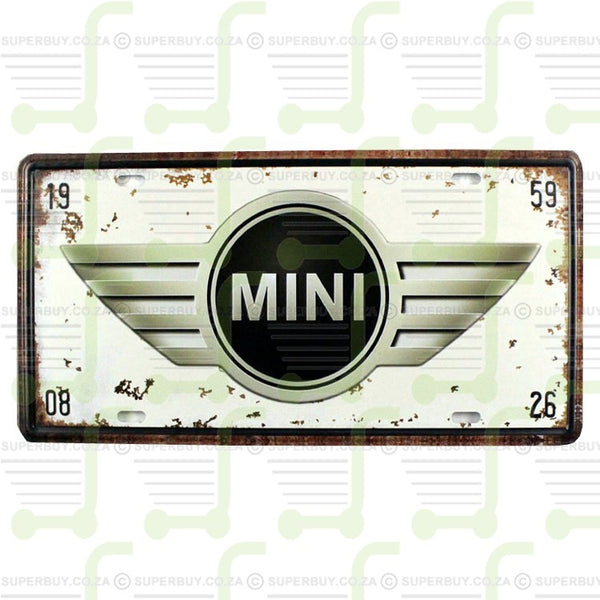 Retro Antique Style Number Plate Type Novelty Sign Plate Decor - Mini