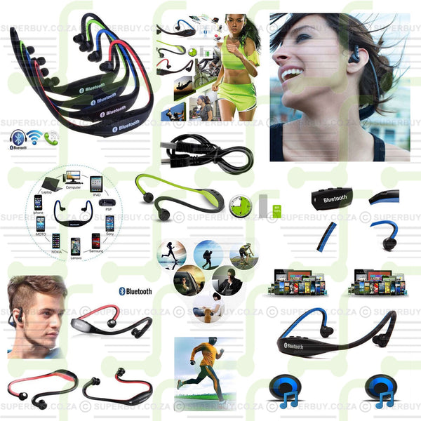 Bluetooth Wireless Headset Stereo Headphone Earphone Handfree Sport
