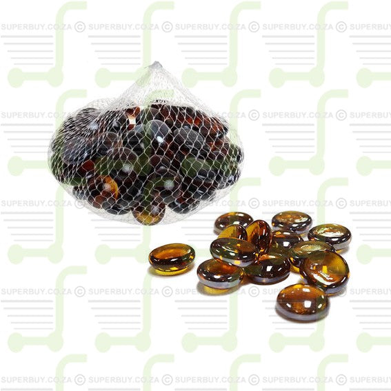 Glass Pebbles Bag of 250g Amber