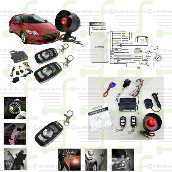 1 Way Vehicle Car Alarm Security Protection Keyless Entry System With 2 Remotes