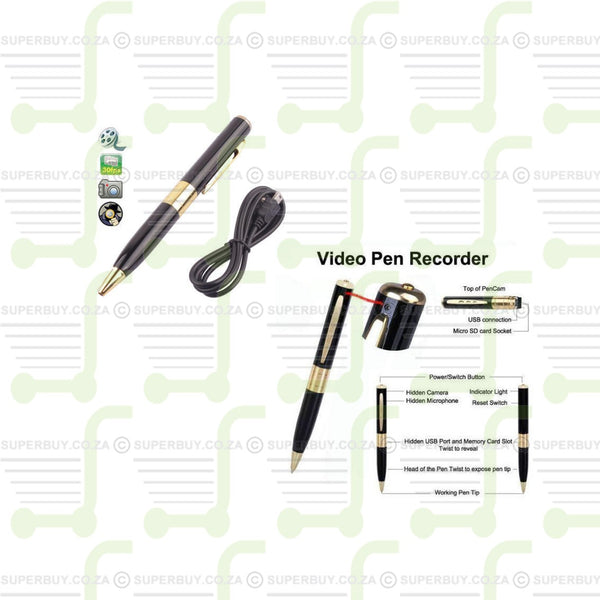 Spy Pen Camera Business Portable Recorder works with 2GB 4GB 8GB 16GB TF CARD
