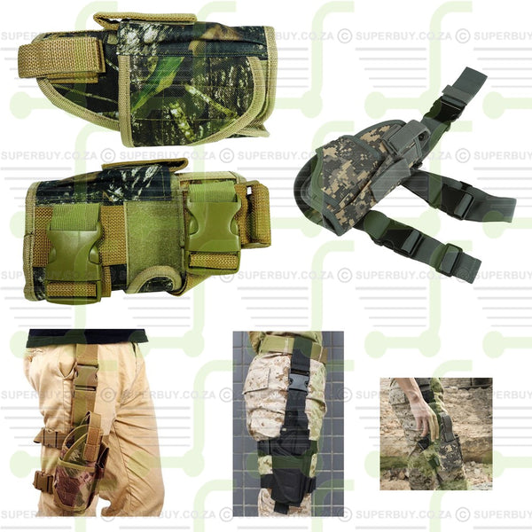 Adjustable Tactical Pistol Gun Drop Leg Thigh Holster Right Hand Realtree Camo