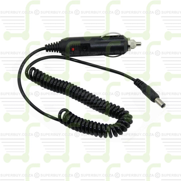 12V DC Two Way Radio Car Charger Spring Cable for Baofeng Walkie Talkie Radios