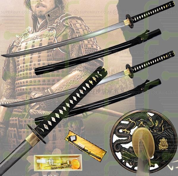 Dragon Samurai Sword Black