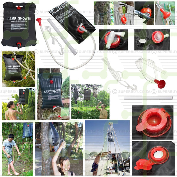 Solar Heated Camping Shower Portable 20L