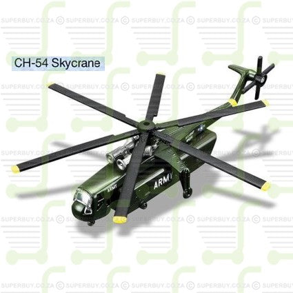 Maisto Fresh Metal Tailwinds Diecast Model Series Sikorsky CH-54 Skycrane With Display Stand