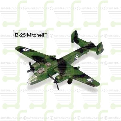Maisto Fresh Metal Tailwinds Diecast Model B-25 Mitchell With Display Stand