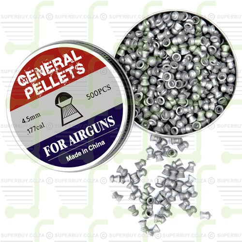 SPA Artemis General Domed 4.5mm .177 Caliber Ammunition Air gun Air Rifle Pellets - Tins of 500