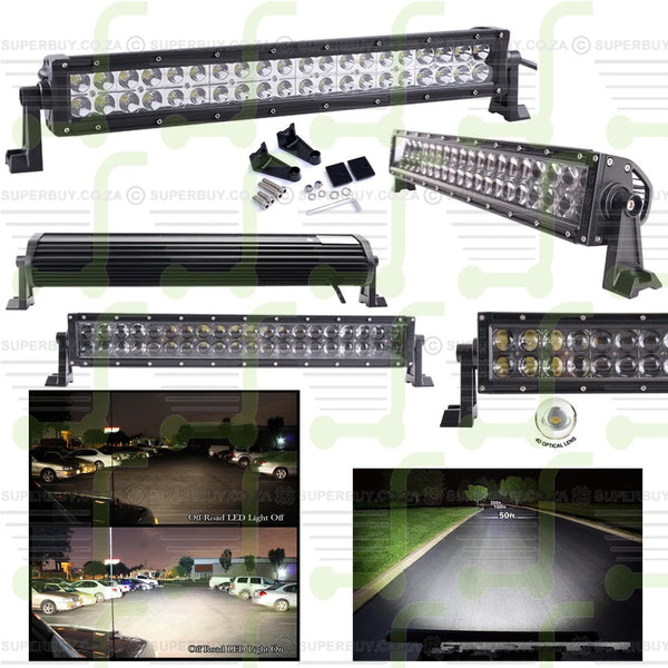 4D Optical Lens CREE LED Work Light Offroad Bar Lamp Flood and Spot Beam 40 LEDs 21.5 Inch 120W