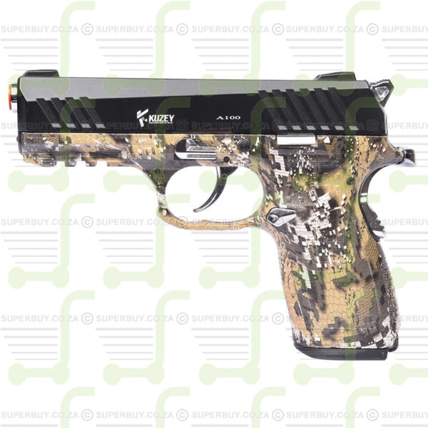 Blank Gas Signal Firing Pepper Gun KUZEY A100 Camo Black 9mm P.A.K.