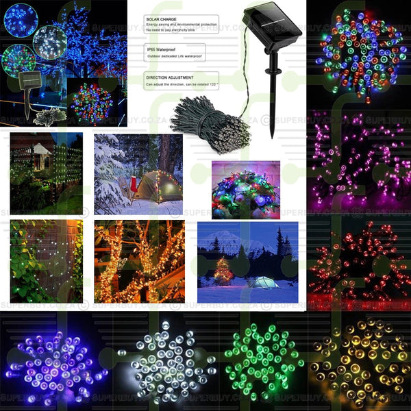 5m with 50 LEDs Solar String Fairy Lights (Blue)