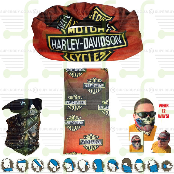 Harley Davidson Motor Cycles Tubular Motorcycle Scarf Neck Warmer Face Mask Bandana Biker Headgear
