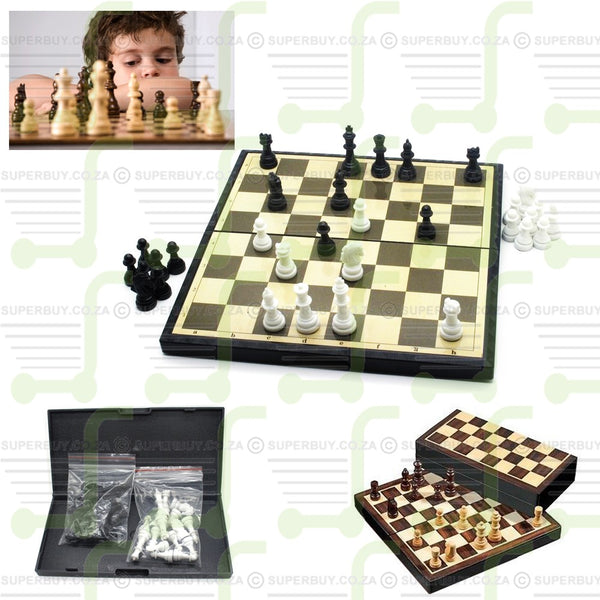 Travel Chess Game Set In Portable Folding Case Medium