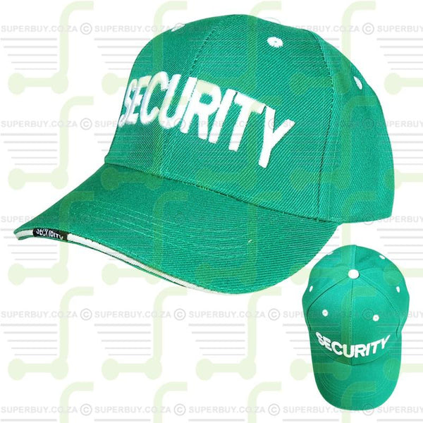 Security Cap Quality Baseball Peak Cap Green