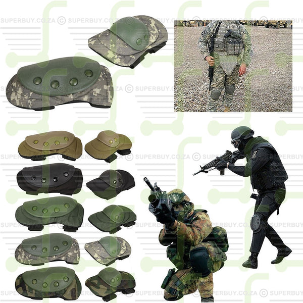 Tactical War Game Military Army Combat Paintball Protective Knee and Elbow Pads Set