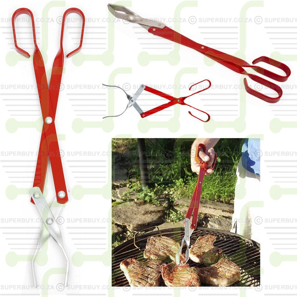 Aluminium Braai Tongs Large