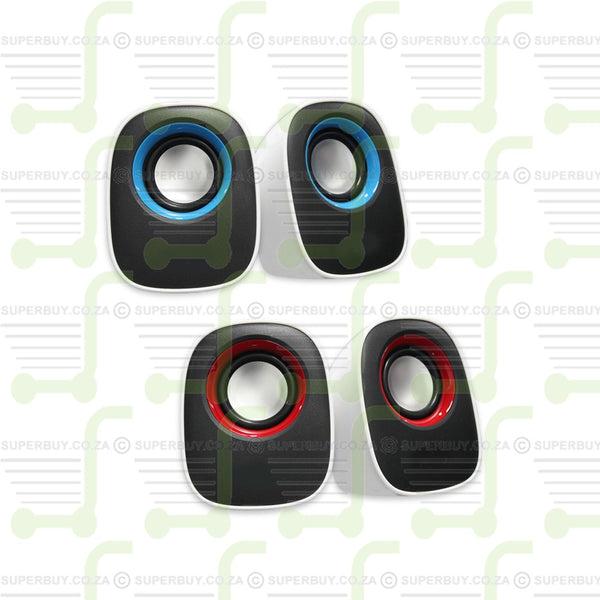 2.0 USB Multimedia Portable Speakers With Volume Control