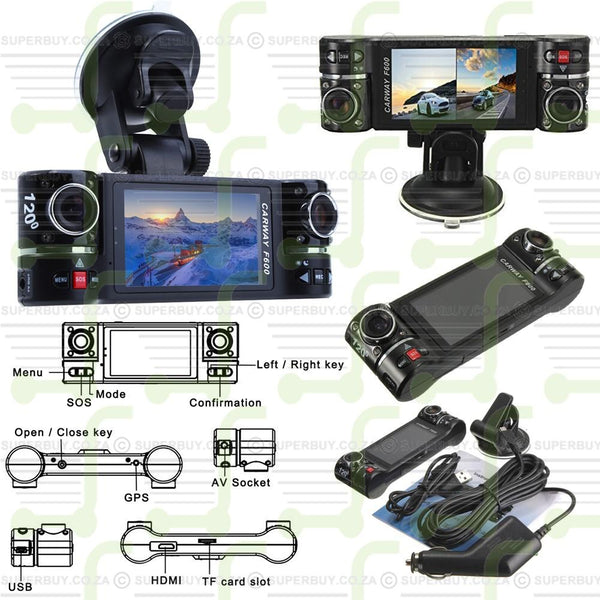 Dual Lens Driving DVR Camera Video Recorder