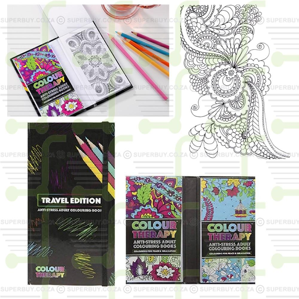Travel Edition Anti Stress Adult Colouring Books