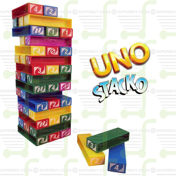 Uno Stacko Strategy Stacking Game