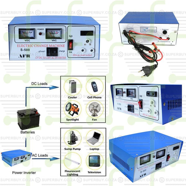 Inverter With Battery Charging Function DC to AC 500W