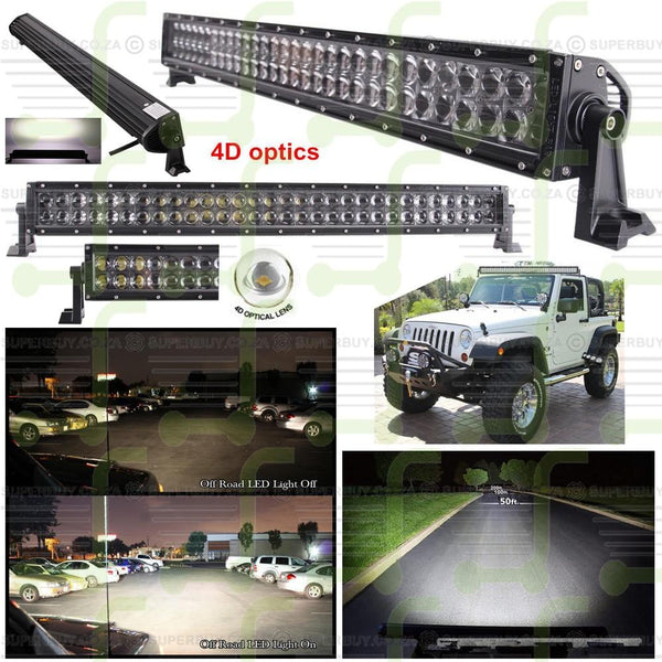 4D Optical Lens CREE LED Work Light Bar Flood Light Lamp 32 Inch 180W