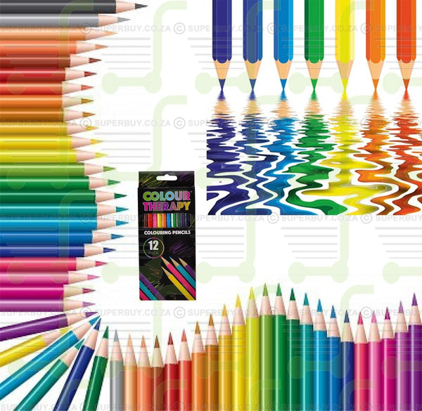 Colour Therapy Colouring Pencils - 12 Pack