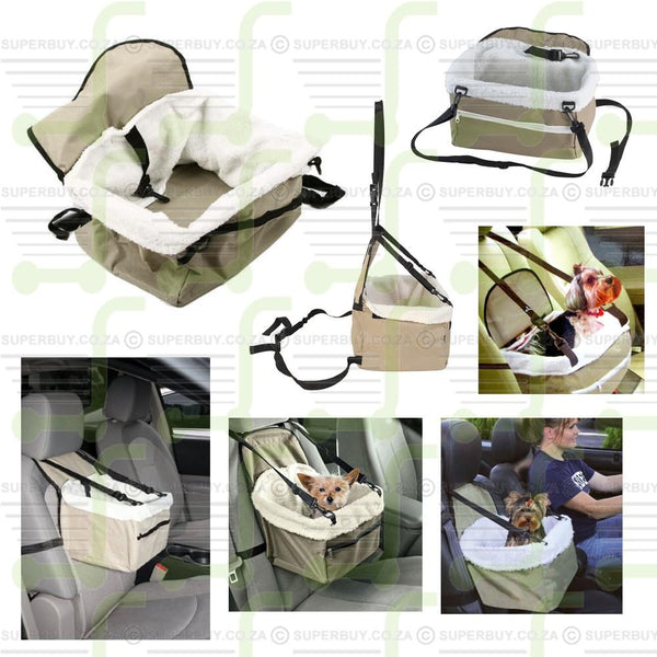 Pet Booster Seat Carrier Car Booster Puppy Dog Cat Seat Pet Snoozer Hammock Safety Basket