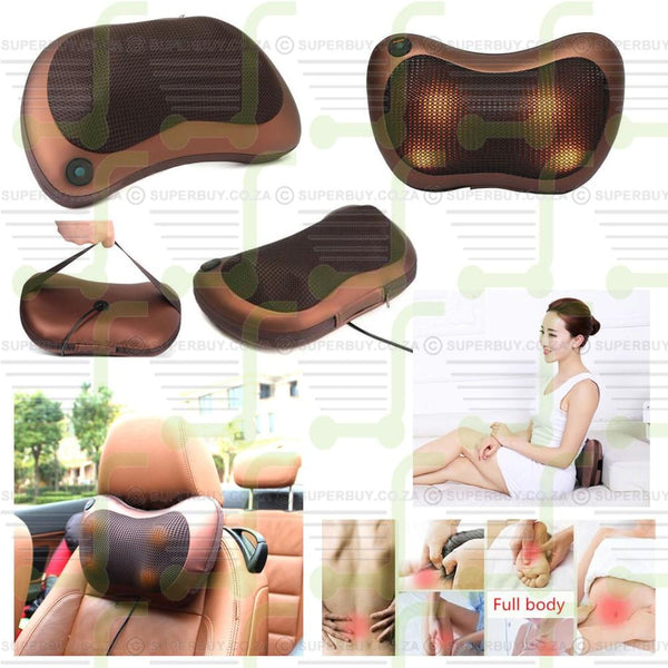 Electronic Car and Home Massage Pillow Cushion Massager for Relaxing Neck Back Shoulders Legs