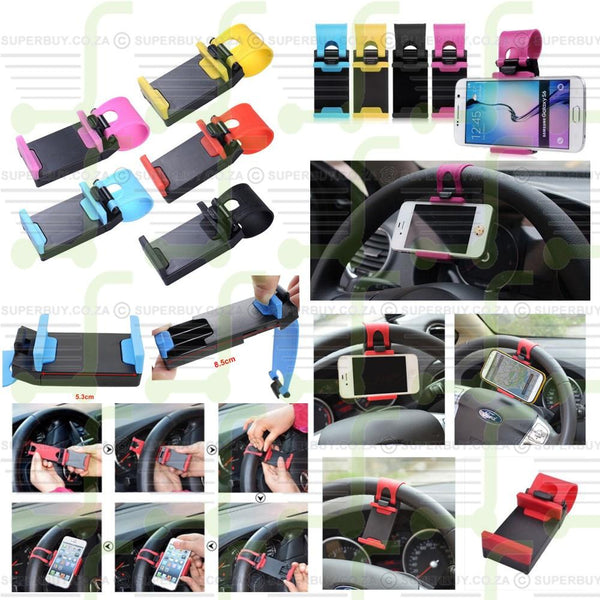 Universal Car Steering Wheel Bike Clip Mount Holder For iPhone For Mobile Phone GPS