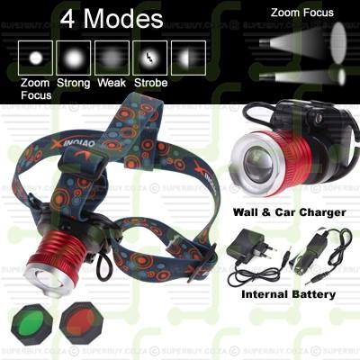 CREE LED Adjustable Zoom Headlight Headlamp Torch