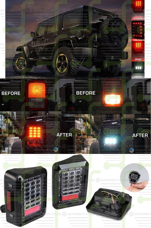 Jeep Wrangler Unlimited LED taillights Upgrade