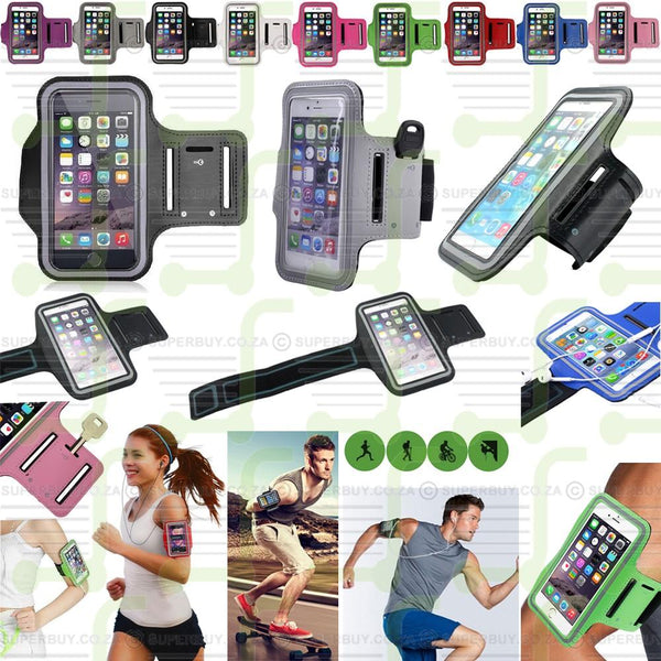 Black Sports Running Jogging Gym Armband Arm Band Case Cover Holder For iPhone 6