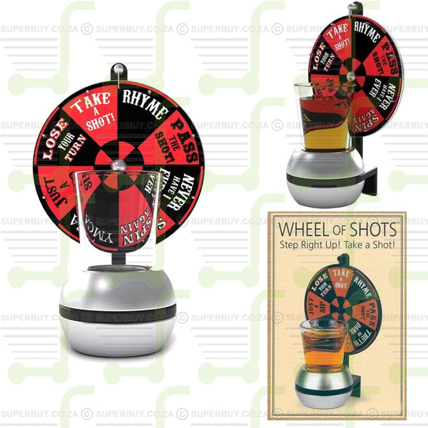 Wheel of Shots Drink and Be Merry Drinking Game