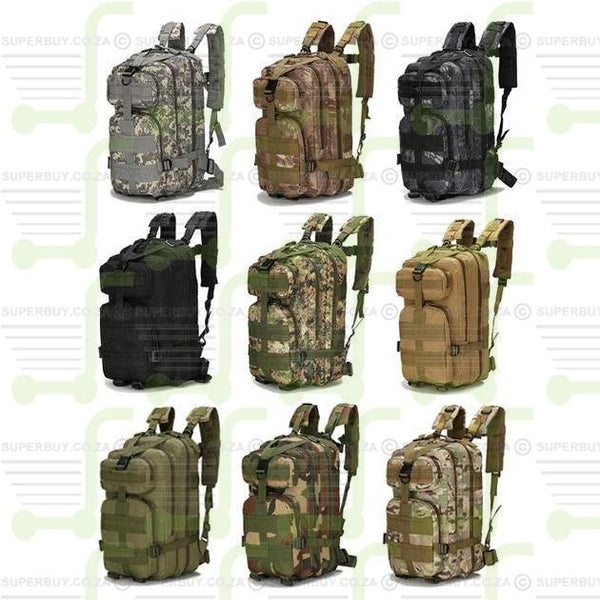 Outdoor Military 25L v1 Molle Tactical Backpack Rucksack Camping Hiking Trekking Bag