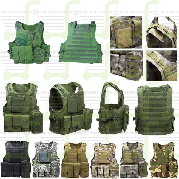 Outdoor Tactical Vest with Multi Pockets - Green